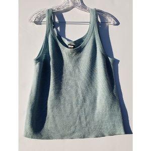 Eileen Fisher teal blue 100% merino wool tank